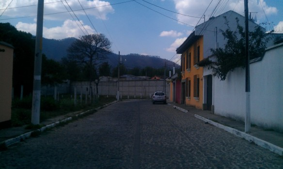 Here is a fine looking street! Let's begin here! Welcome to Antigua, Guatemala Street View!