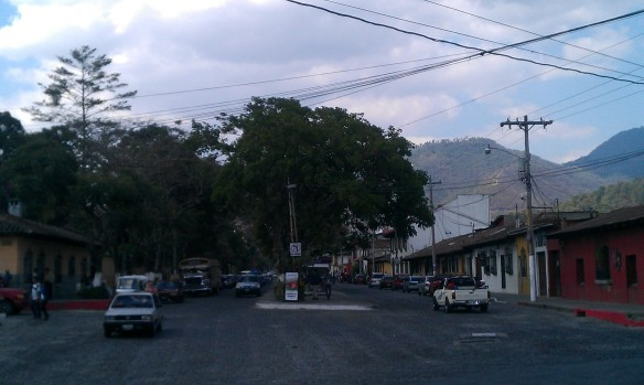 Success! Upon reaching the 3 way intersection, I can travel left into the beautiful city of Antigua