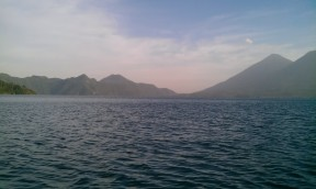 The twin volcanoes Tolimán and Atitlán